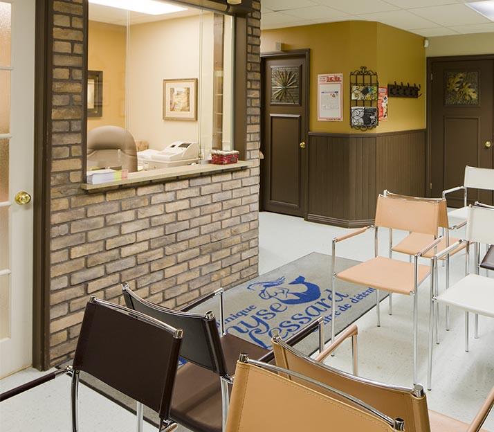 Salle d'attente Clinique Denyse Lessard